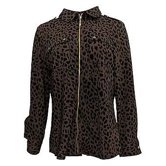 Isaac Mizrahi Live! Dames Top Essentials Pima Cotton V-Hals Rood A289636