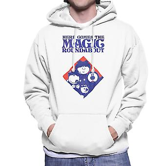 The Magic Roundabout Retro Blue Tone Diamond Men's Hooded Sweatshirt