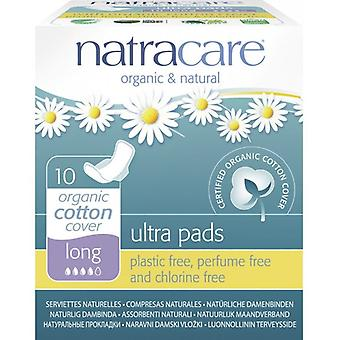 Natracare Ultra Long Compresses with Wings 10 uds