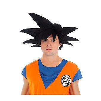 Zwarte pruik Goku Saiyan Dragon bal Z volwassen
