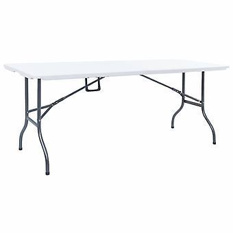 Tavolo da giardino pieghevole bianco 180x72x72 Cm Hdpe