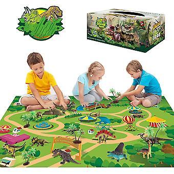 Dinosaurier Spielzeug Aktivitt Spielmatte 47,2 x 31,5 Zoll - 13 realistische Dinosaurierfiguren Spielset zur
