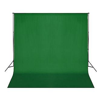 vidaXL photo background cotton green 300 x 300 cm Chroma-Key