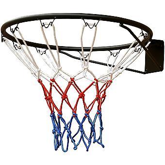 Anello da basket 45 cm - Nero - Rete a 3 toni