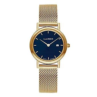 LLARSEN Analogueic Watch Quartz Woman with Stainless Steel Strap 124GDG3-MG3-14