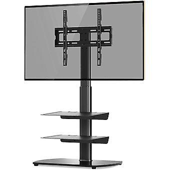 FengChun TV Bodenständer mit 3 gehärtetem Glas Regale für 26-55 Zoll Plasma LED LCD FlatCurve