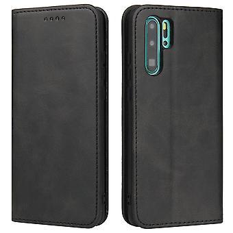 Flip folio leather case for huawei p40 pro plus black pns-1411