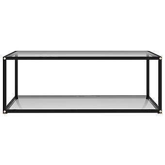 vidaXL Beistelltisch Transparent 100x50x35 cm Hartglas