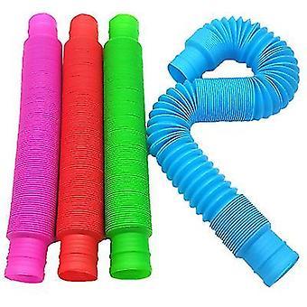 4Buc jucării tub pop pentru copii și adulți pop tuburi multi-color jucărie senzorială x180
