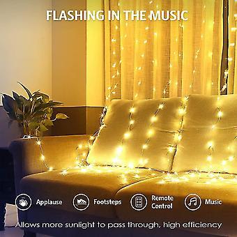 Led curtain lights  usb string lights waterproof 3 * 3m 300 led usb curtain window string lights dt7159