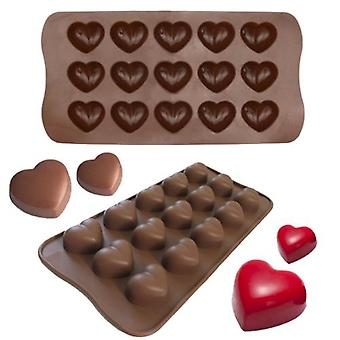 Ice/Chocolate/Jelly shape with 15 hearts - Iceform - Pralinform