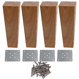 4pcs Right Angle Trapezoid Furniture Feet Cabinets Legs Replacement 18CM