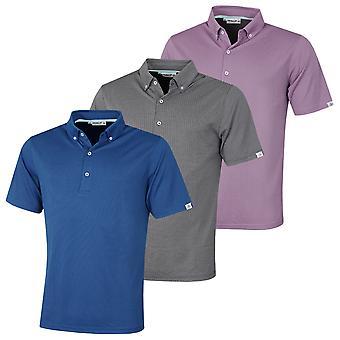 Proquip Mens 2021 Pro-Tech Mini Jacquard Moisture Wicking Stretch Polo Shirt
