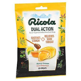 Ricola Ricola Dual Action Drops Honey-Lemon, 19 Each