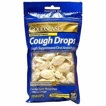 Good Sense Cough Drops Menthol Flavors, 30 Drops
