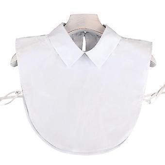 anti krøll halv skjorter broderi falsk krage ren farge avtakbar bluse