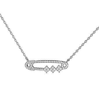 Masivní sterling stříbrný řetízek náhrdelník jeden šperky zirconia 18 palce