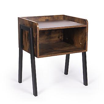 Retro Rustic Side Table | M&W