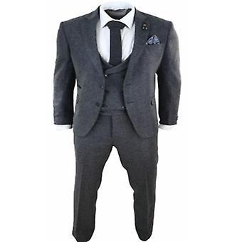 Mens Wool Blend, 3 Piece Suit, Jacket, Vest Pant