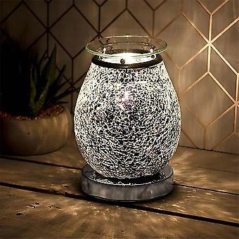 Deseo Aroma Lámpara Mosaico Negro