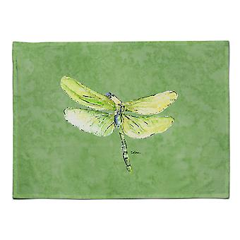 Caroline's Treasures 8864PLMT Libelle auf Avocado Stoff Tischset, Multicolor