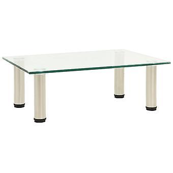 vidaXL ТВ стол прозрачный 40x35x17 см Закаленное стекло