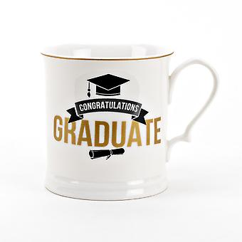 Graduering Porcelæn Krus - Tillykke Graduate