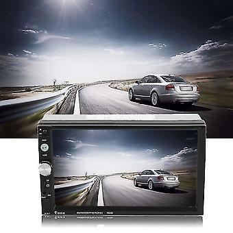 2 Din Autórádió Mp5 lejátszó 7inch HD érintőképernyős telefon sztereó rádió kötőjelben