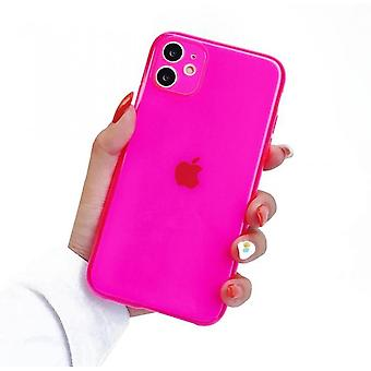 Fluorescent Clear Silicone Case,iphone 11pro