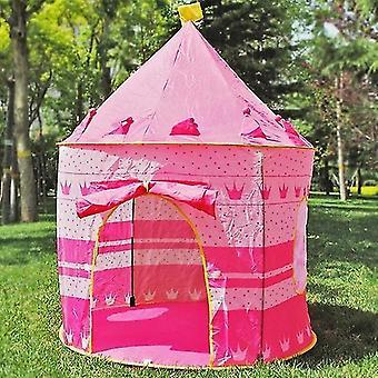 داخلي / في الهواء الطلق لعب الأطفال لعب لعب البيت الأميرة قلعة خيمة هدية للأطفال (الوردي)