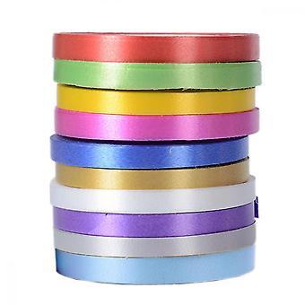 カーリングリボンセット、ギフトラッピング結婚式のパーティーの装飾DIYクラフトのための10ロールバルーンリボン(10色、10m /ロール、幅5mm)