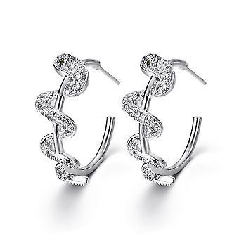 Oorbellen slangen stromend water tijdperk rond zirkoon oorclips voor bruiloft