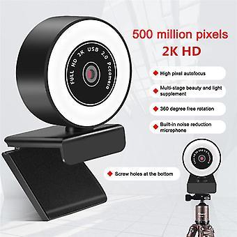 1080p 2k Usb 5miljoonaa pikseliä Web Camera Pc Kannettava tietokone, jossa on