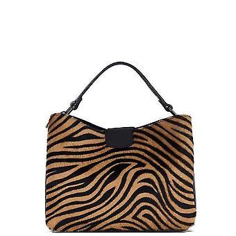 Tiger Print Mocka Läder Grab Bag