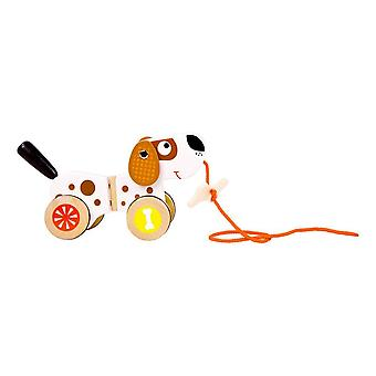 Pull-along Animal Dog Wooden Kid's Toy