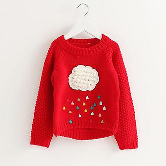 Kinder Pullover Strickjacke Regenbogen Muster Stickerei Oberbekleidung