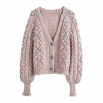 Women Knit Cardigan Long Sleeves