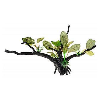 Penn Plax Driftwood Plant - Vihreä - Leveä - 1 Määrä