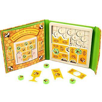 Smart Kinder Holz Puzzle Bienenspiel Baby Frühe Bildung Bildung Entwicklung Gehirn Logik
