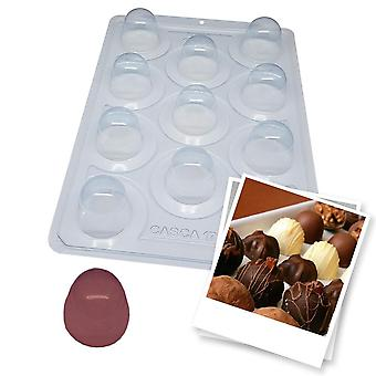 BWB SP 834 Mold Semiprofessionell 3 delar Tryffelchokladskal 17g choklad