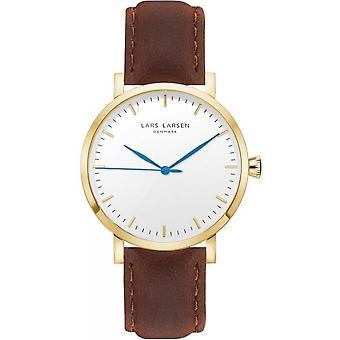 LLarsen (Lars Larsen Brown Genuine Leather) WH143GW-STRAPVIN Men's Watch