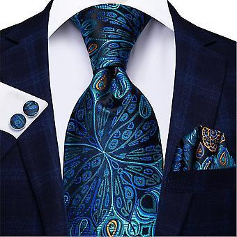 Ensemble cravate italienne 100% soie pour hommes, 8,5 cm (C-1593)