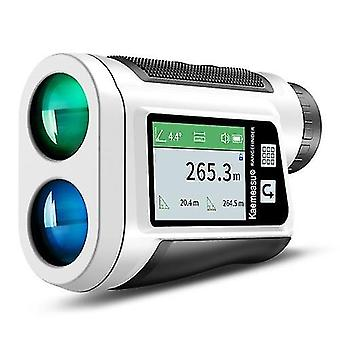 Multifunction Laser Rangefinder Meter Outdoor Golfs Telescope Digital Monocular Range-finder Angle Speed Height Measuring Tool With Lcd Colo