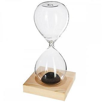 Reloj de arena magnético transparente