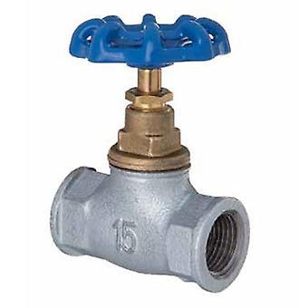 """1/2""""- 2"""" inch BSP Inline rechte uitvoering gietijzer schroef ventiel waterstroom regelen"""