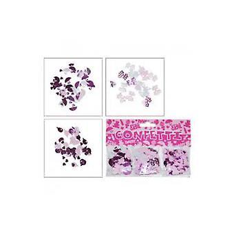 Strona sprzyja konfetti jest dekoracja urodzenia dziewczyna