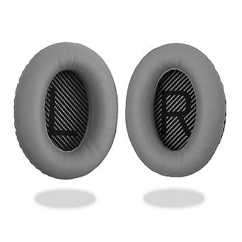 REYTID Replacement Grey Ear Pad Cushion Kit Compatible with Bose QuietComfort 15 / QC15 / QC2 Headphones