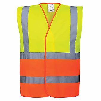 Portwest - Two Tone Hi-Vis Safety Workwear Vest