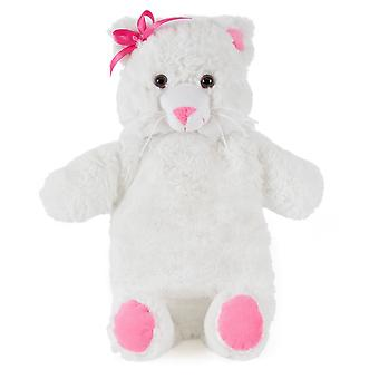 Kids Large Novelty Cute Bear With Bowtie Soft Faux Fur Covered Hotwater Bottle