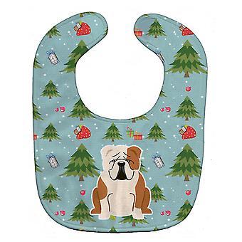كارولين كنوز عيد الميلاد BB4785BIB الإنجليزية لدغ مريلة طفل أبيض تزلف